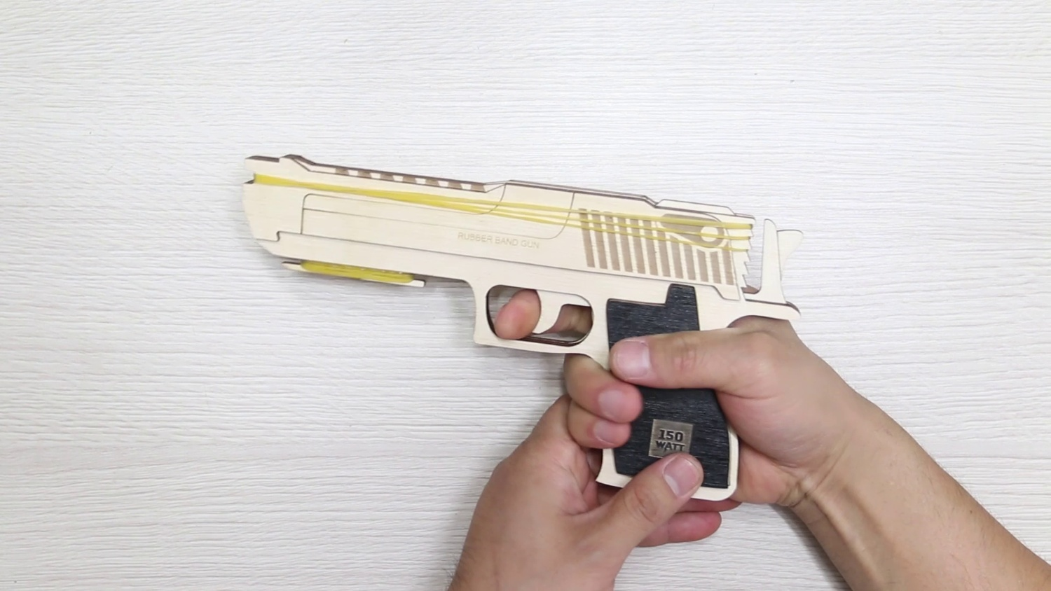 Laser Cut Rubber Band Gun 3mm Plywood Free DXF File
