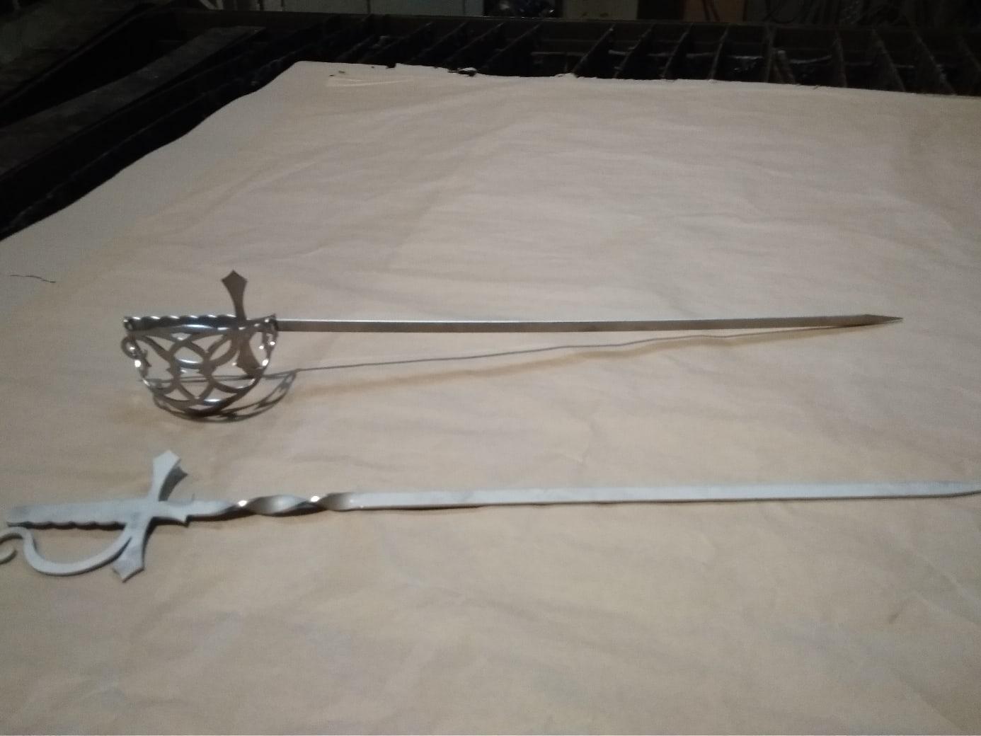 Laser Cut Sabre Skewer Sword Free DXF File