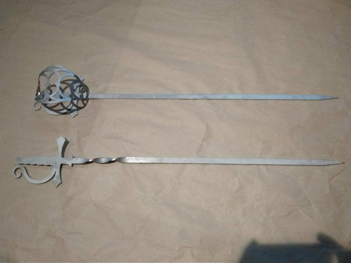 Laser Cut Sabre Sword Free DXF File
