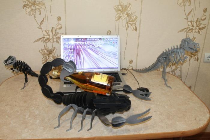 Laser Cut Scorpion Free DXF File
