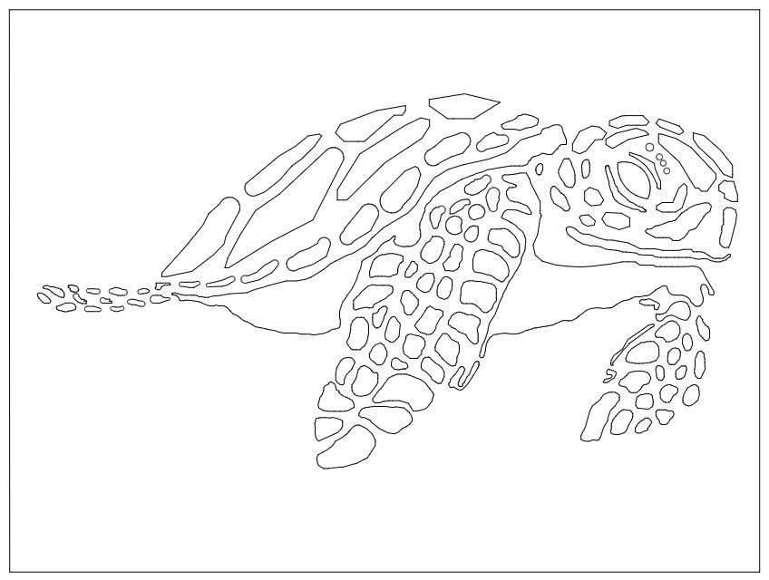Laser Cut Sea Turtle Free DXF File