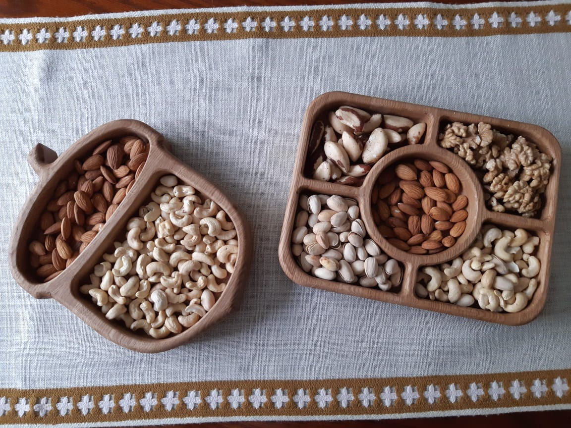 Laser Cut Sectional Tray For Dry Fruits Nuts Snacks Free DXF File
