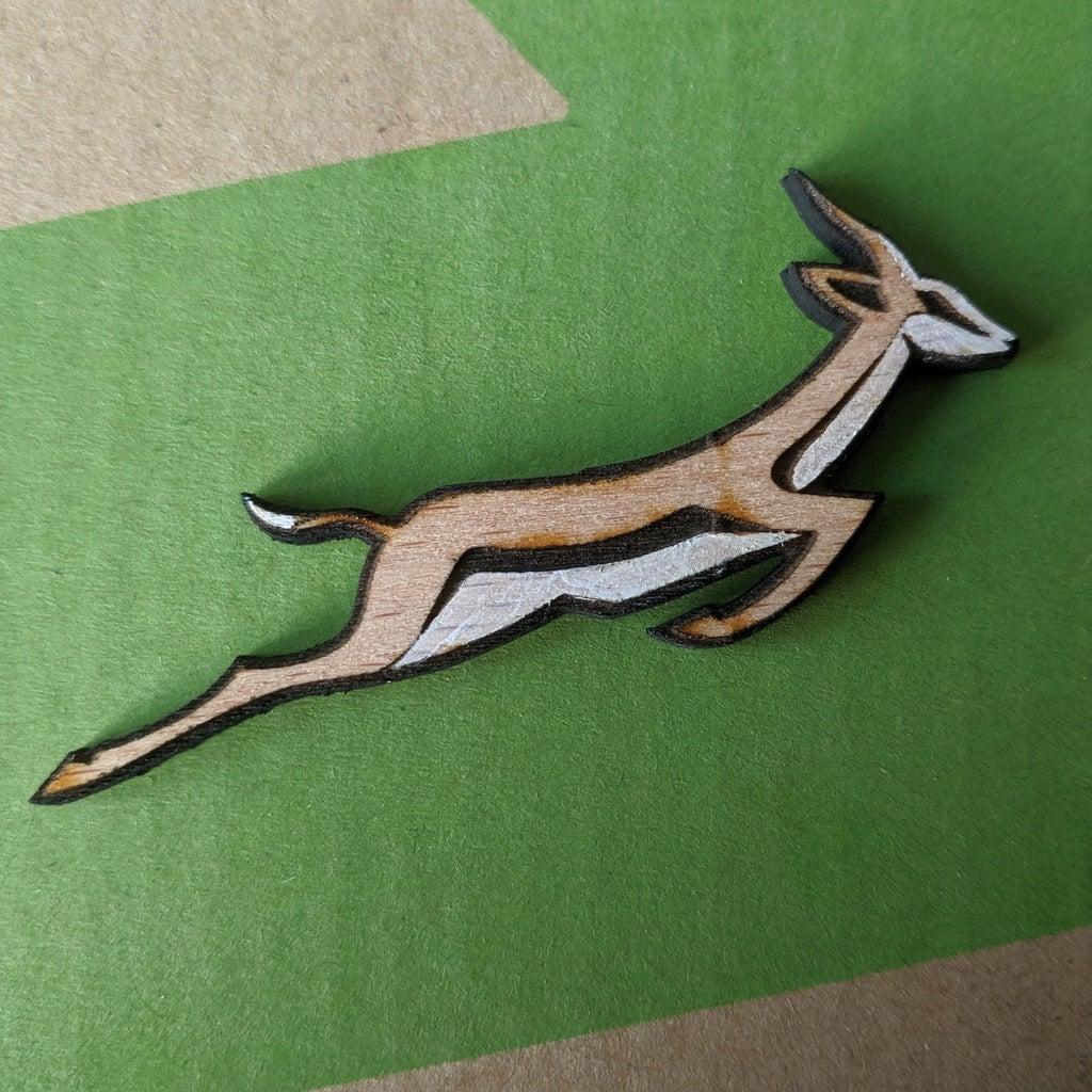 Laser Cut Springbok Pin Badge Free DXF File