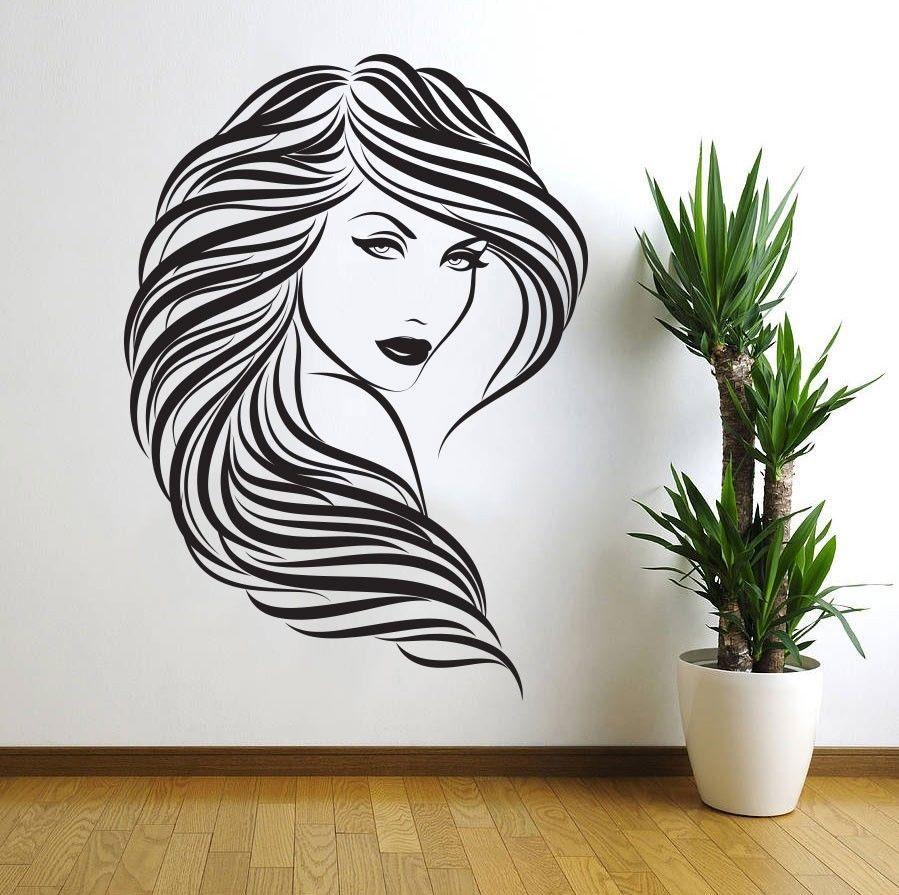 Laser Cut Lady Girl Woman Beauty Saloon Wall Art Free DXF File