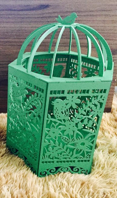 Laser Cut Mdf Decorative Cage Free DXF File