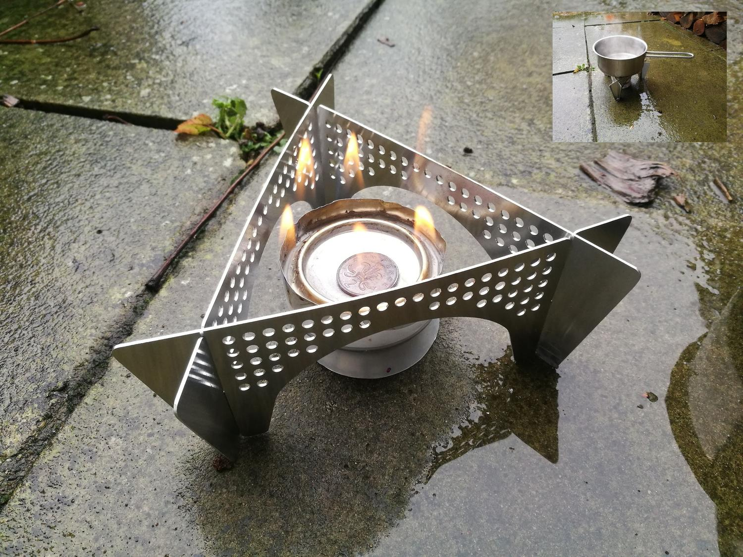Laser Cut Stove Support Stand Base And Wind Shield For Outdoor Camping Plasma Cut Free DXF File