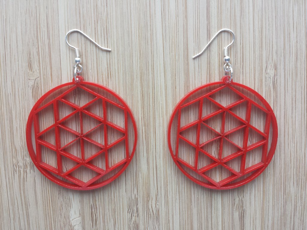Laser Cut Earring Templates Free DXF File