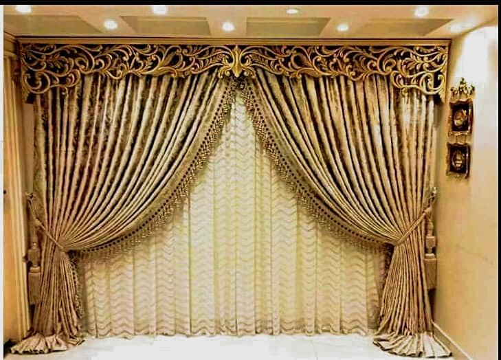Decorative Curtain Border Design Free DXF File