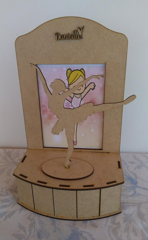Laser Cut Ballerina On Stage Plywood Free DXF File