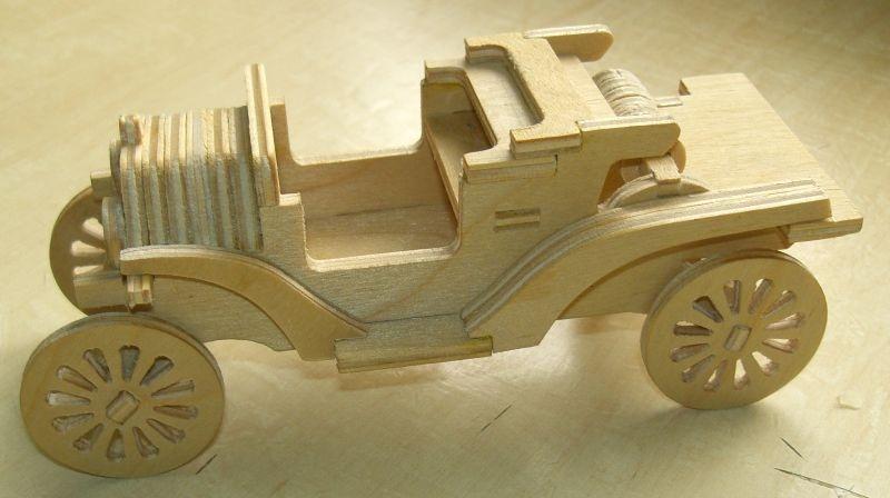 Laser Cut Ford Model T Car Free DXF File