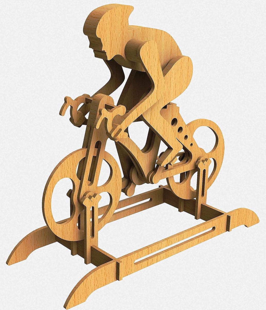 Laser Cut Racing Bike Racer Bicycle Free DXF File