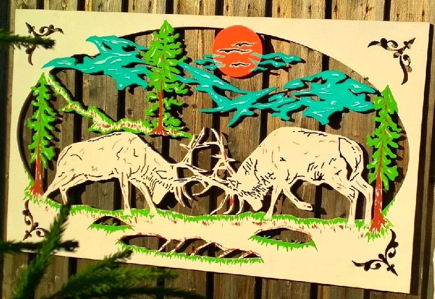 Laser Cut Scenery Wall Art Free DXF File