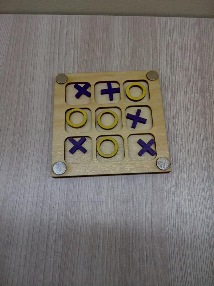 Laser Cut Tic Tac Toe Game Board Free DXF File