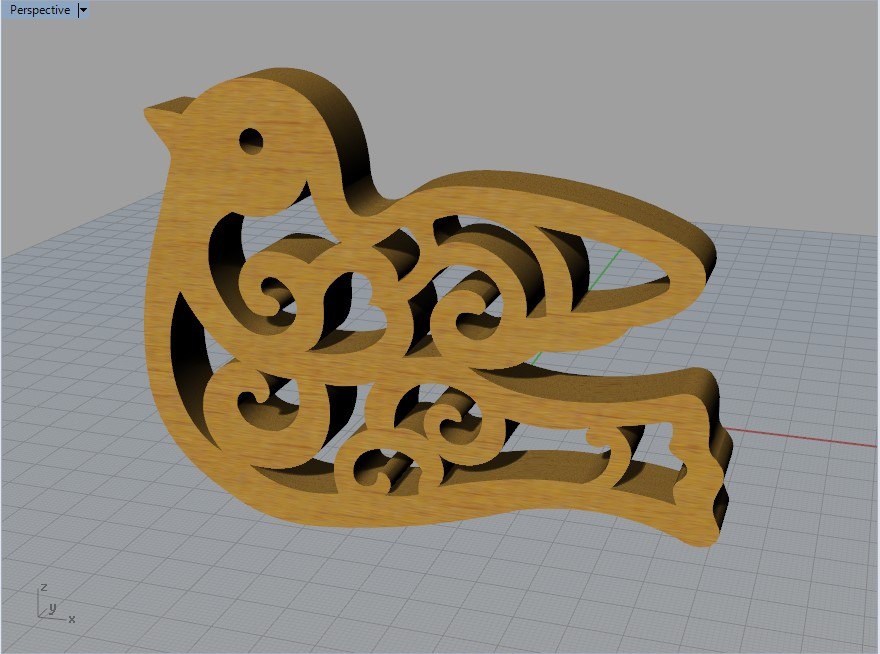 Laser Cut Bird Free DXF File