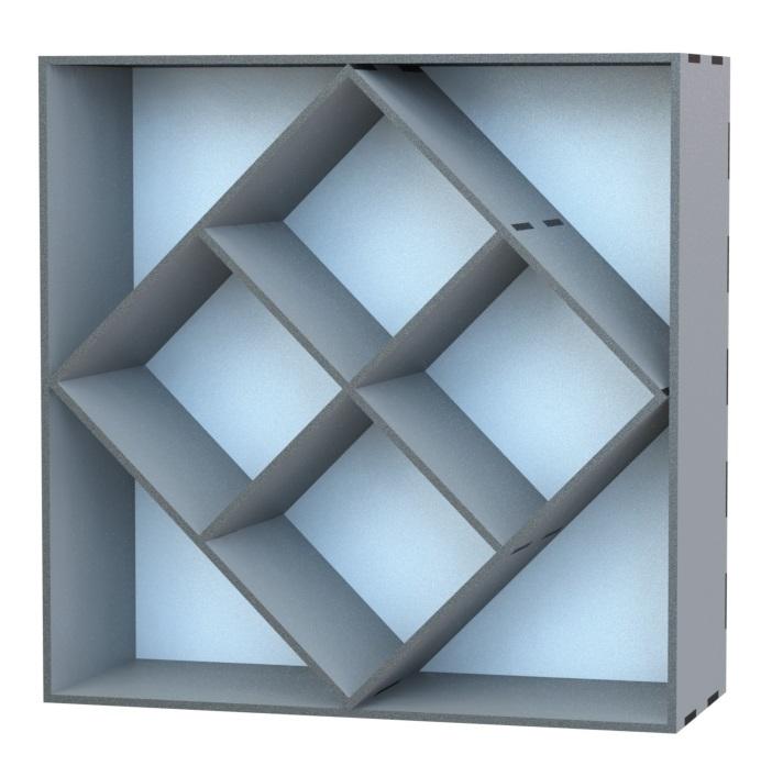 Laser Cut Cabinet Storage Rack Free DXF File
