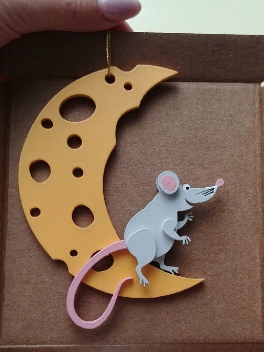 Laser Cut Mouse Free DXF File
