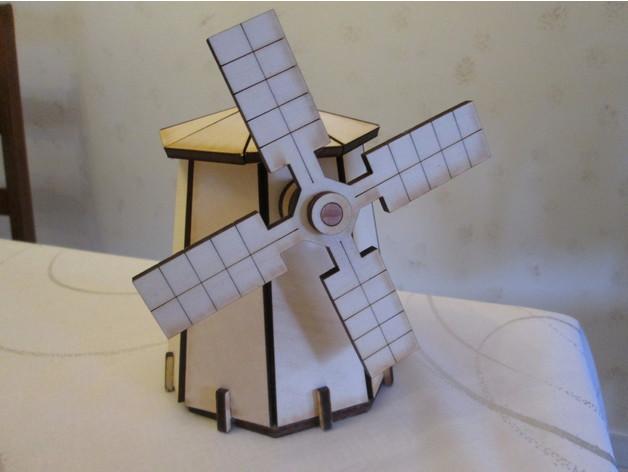 Laser Cut Windmill Template Free DXF File