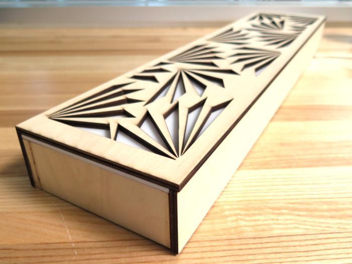 Laser Cut Decor Desk Light Plywood Acrylic Free CDR Vectors Art