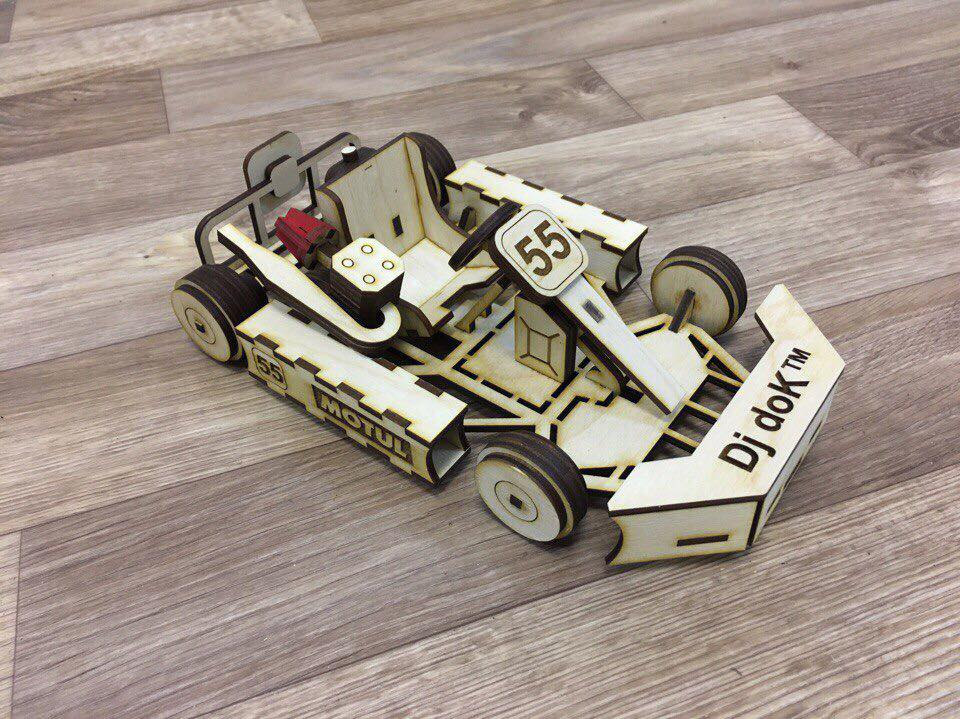 Laser Cut Go Kart Car 3mm Free CDR Vectors Art