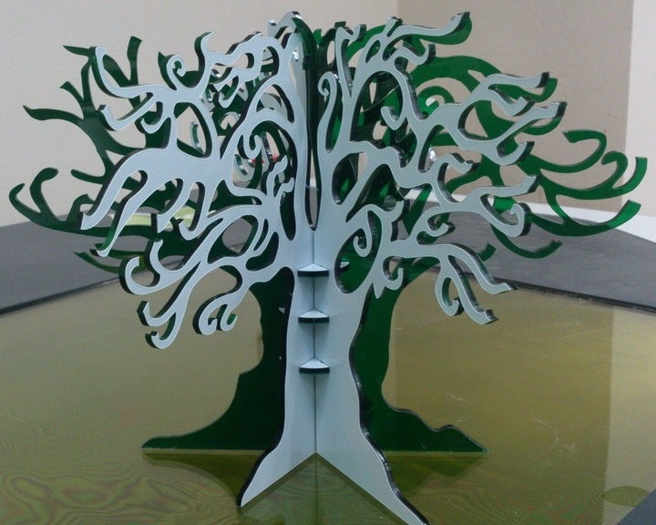 Laser Cut Jewelery Tree Free CDR Vectors Art