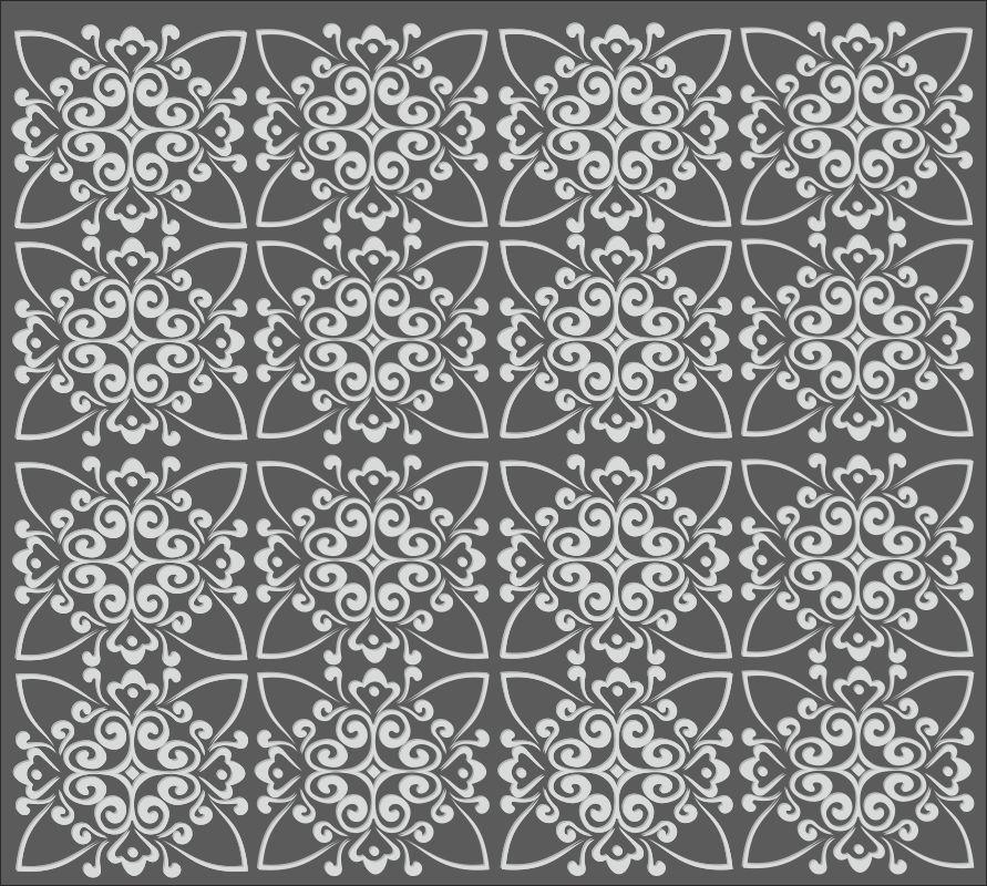 Laser Cut Repeating Geometric Decorative Pattern Free CDR Vectors Art