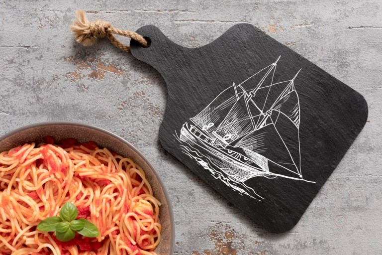 Laser Cut Sailboat Cutting Board Gift For Sailor Free CDR Vectors Art
