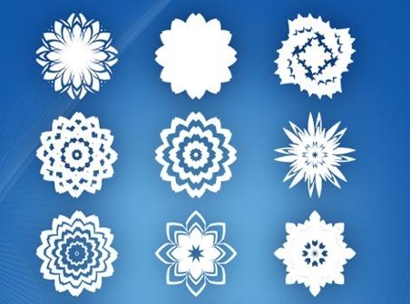 Laser Cut Snow Flower Noel Vector 15 Abstract Flowers Free CDR Vectors Art