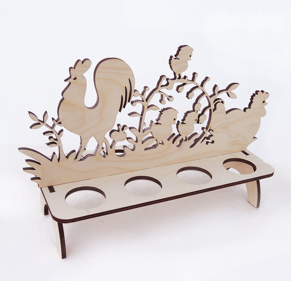 Laser Cut Easter Stand Free DXF File