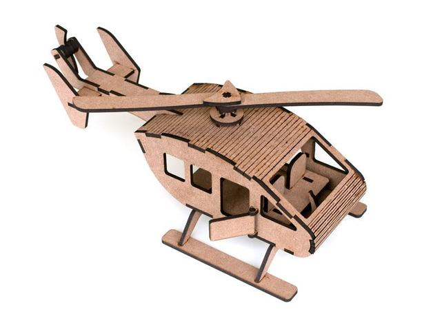 Laser Cut Helicopter m1 4 2mm Mdf Free DXF File