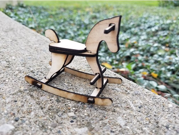 Laser Cut Rocking Horse Template Free DXF File