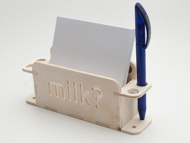 Pens And Card Notes Holder Free DXF File