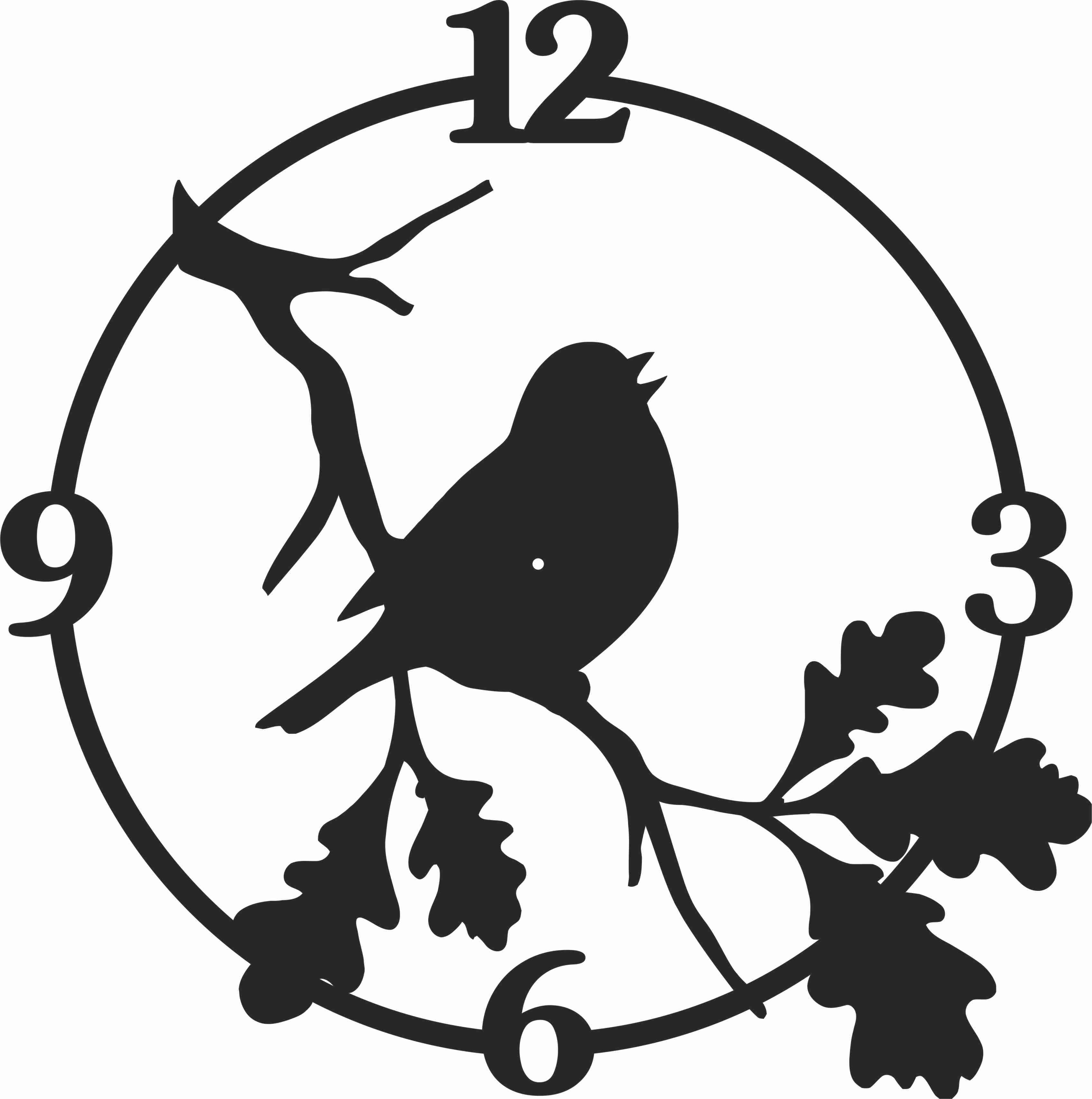 Bird Wall Clock Free DXF File