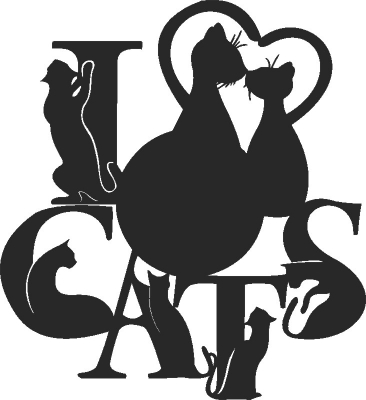 Cat Clock Pet Lovers Lovers Free DXF File