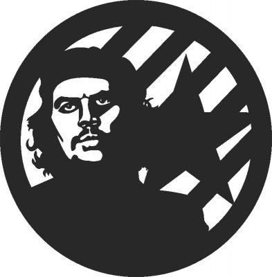 Chegevara Wall Clock Free DXF File
