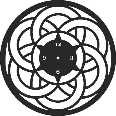 Clock Decor Free DXF File