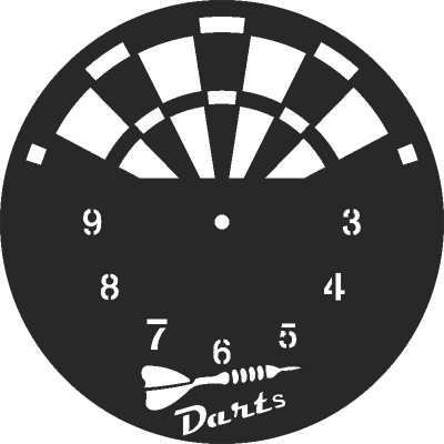 Darts Clock Free DXF File