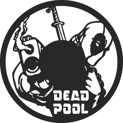 Dead Pool Wall Clock Free DXF File