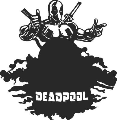 Deadpool Clock Free DXF File