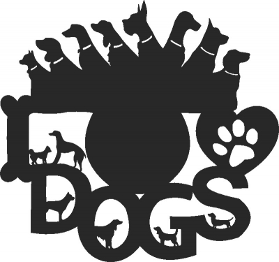 Dogs Lover Clock Free DXF File