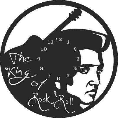 Elvis Wall Clock Free DXF File
