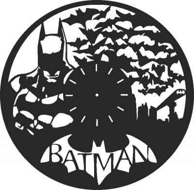 Batman Wall Clock Free CDR Vectors Art