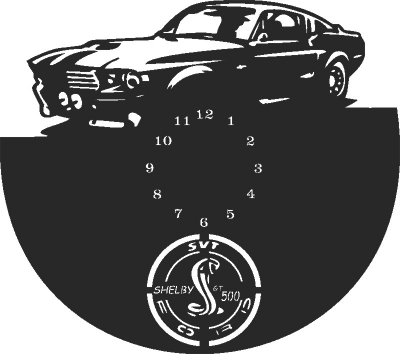Ford gt500 Wall Clock Free CDR Vectors Art