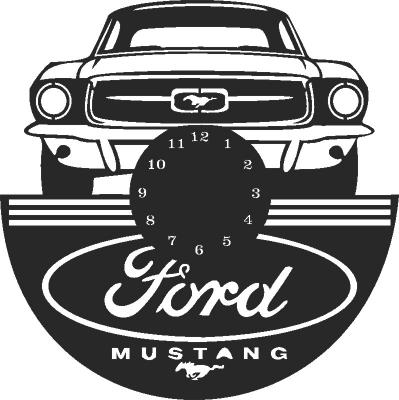 Ford Mustang Wall Clock Free CDR Vectors Art