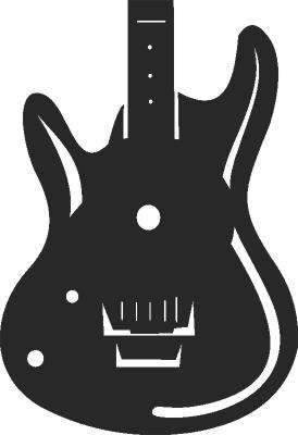 Guitar Wall Clock Free CDR Vectors Art