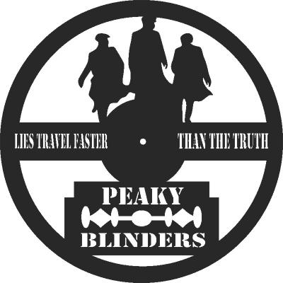 Peaky Blinders Clock Free DXF File