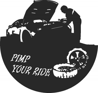 Pimp Ride Clock Free DXF File