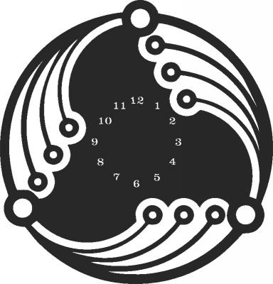 Wall Clock Plasna Laser Cut Free DXF File