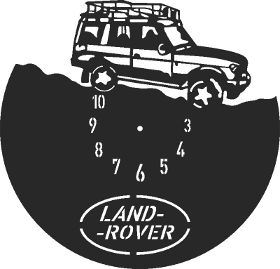 Land Rover Clock Free CDR Vectors Art