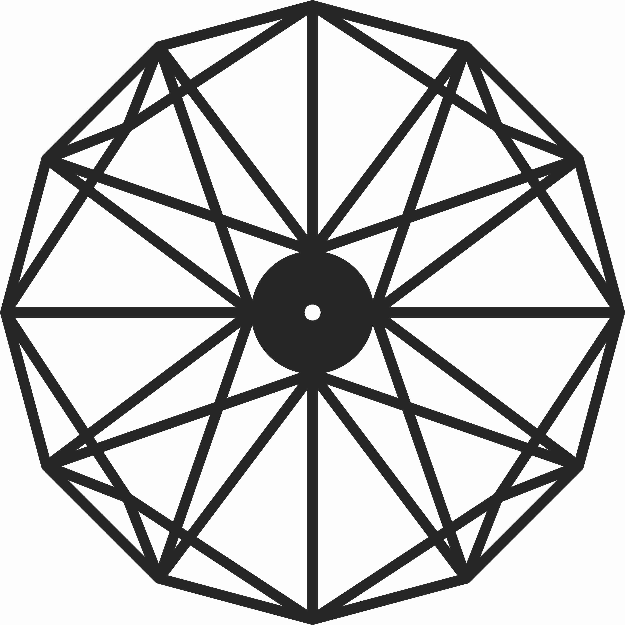 Polygon Wall Clock Free CDR Vectors Art