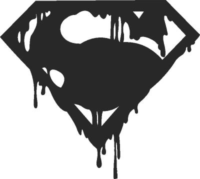 Superman Logo Clock Free CDR Vectors Art